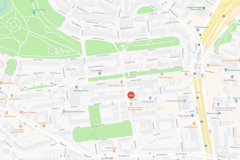 Creative Design & Marketing Agency Strive Digital location on Map of Finnieston, Glasgow