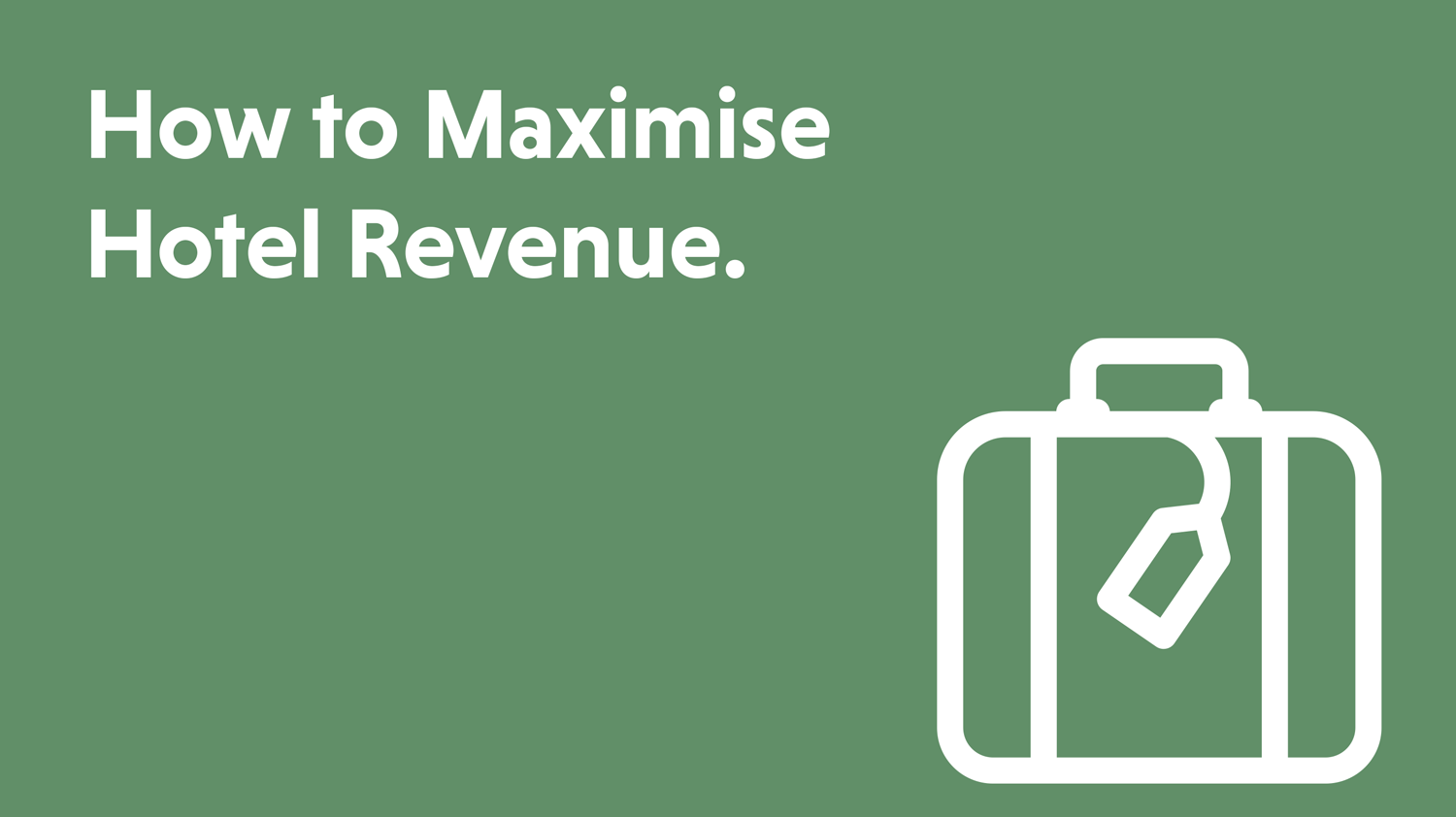 Blog cover artwork showing the title How to Maximise Hotel Revenue