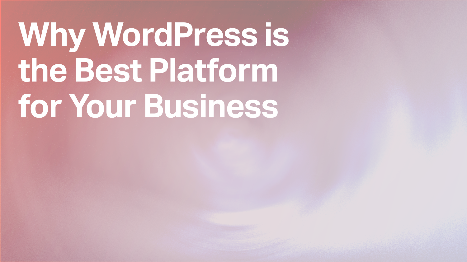 Why WordPress is the Best Platform for Your Business